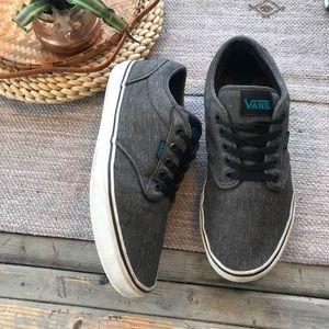 Vans charcoal grey lace up sneakers men's size 9